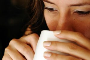 woman drinking coffee stock.xchng photo, royalty free