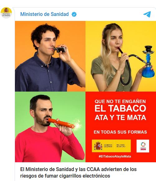 Ministerio De Sanidad Advierte Sobre El Consumo De Cigarrillos Electrónico Y Tabaco Calentado